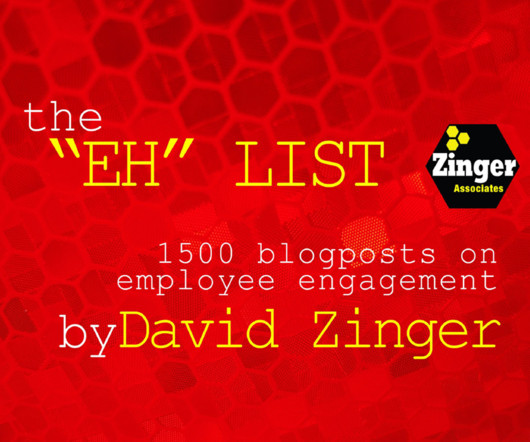 Ebook and employee engagement human resources today david zingers 1500 blog posts on employee engagement ebook fandeluxe Image collections
